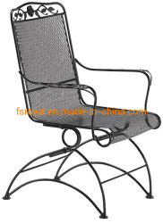 屋外のテラスの家具の耐久の鉄の網の庭のチェアーテーブル