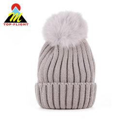 Custom трикотажные зимой Beanie Red Hat с POM POM