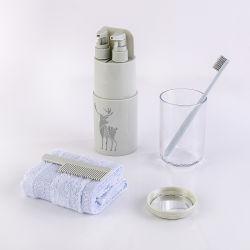 Ordinateur portable 7 sur 1 bouteilles de Voyage ensemble Mini avec bouteille de shampooing brosse à dents Kits de voyage sous la bouteille de stockage défini