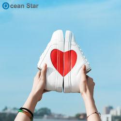 2019 Novo estilo de amor Casal Branco senhoras de calçado feminino Calçado Casual plana
