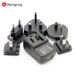 Несколько взаимозаменяемых настенное зарядное устройство USB зарядное устройство USB адаптер нам ЕС Великобритания Au и Kc