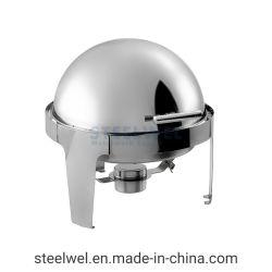 Steelwel 6.5 Qt. Visibles Chrome ronde Accent éparpilleur supérieure de rouleau