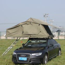 새로운 디자인 2인용 차량 카메라 4X4 차량 방수 그린 옥상 텐트에서 접습니다