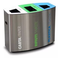 Piscina classificados em aço inoxidável de metal de caixote do lixo podem Patio caixote do lixo