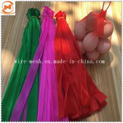 Étoffes de bonneterie rouleau de filet à mailles sac en plastique, l'emballage de l'ail sac Mesh