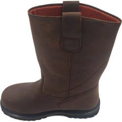 고품질 Anti-Slip 높은 발목 가죽 안전 단화