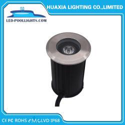 Теплый белый/белый нержавеющая сталь круглого встраиваемый светодиодный индикатор Inground подземных путь лампа 1 Вт/3 Вт лампа для установки вне помещений