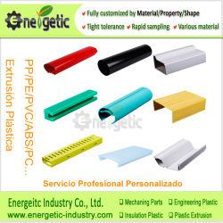 PVC 플라스틱 밀어남 단면도, 플라스틱 채널 밀어남, 플라스틱 밀어남 단면도, 내밀린 플라스틱 모양, 플라스틱 밀어남을%s 플라스틱 제품