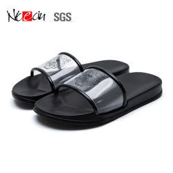 Nouveau style de refroidir les chaussures à la perméabilité d'air supérieur Tiger-Grain Transparent pantoufles