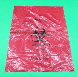 Sacchetto autoclavabile su ordinazione di colore rosso pp Biohazard per l'imballaggio dello spreco dell'ospedale