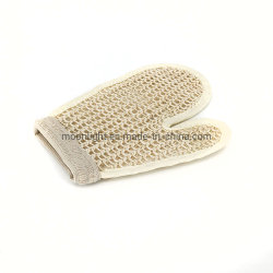 剥離の有機性自然なシャワーのサイザルアサの浴室の手袋