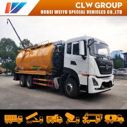 18000litros/20000 litros vácuo caminhão tanque de limpeza de esgotos de águas residuais Jatos de Alta Pressão do equipamento de tratamento de Sucção