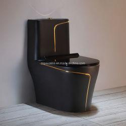 Санитарные продовольственный туалет в ванной комнате европейской роскошью сиамских личности сифоны черного цвета туалета