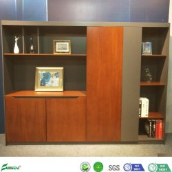 Socle de stockage de fichiers moderne en bois d'étagère du Cabinet pour Office