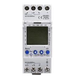 Ac822 220V-240V 다기능 DIN 레일 LCD 디지털 타이머 스위치, 주간 프로그램 시간 스위치