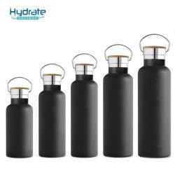 350ml/500ml/600ml/750 ml/1000ml isolation sous vide en acier inoxydable Sports Bouteille d'eau