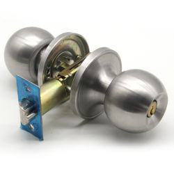 Fácil de instalar o hardware da porta Puxador Tubular de segurança trava do botão redondo