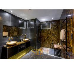 Unidade de disco e o luxo Semi-Precious Olho do Tigre de Pedra Laje de Pedra amarela para banheiro muro da Villa e Hotel