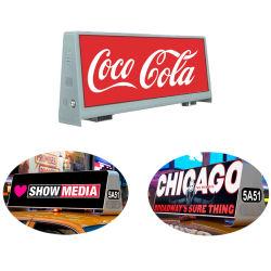 Alto brillo de 5.500 nits de publicidad digital en movimiento de la junta superior de la pantalla LED de Taxi
