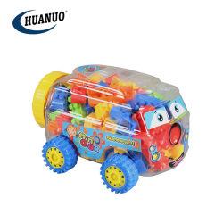 100pcs Bloc de construction en plastique pour les enfants de voiture Mini Bloc de forme de jouets