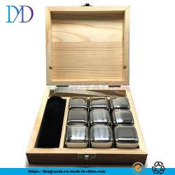 Whisky-Metall gefrorenes Steingeschenk-Set