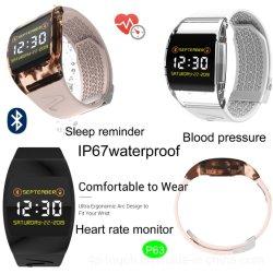 Namorados IP67 à prova de Ecrã TFT Smart Bracelete Bluetooth com o Monitor de Ritmo Cardíaco P63