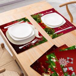 La mode Noël Décoration Tableau récapitulatif de fonctionnement Housse de coussin vaisselle mat