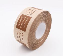 무료 샘플 판지 밀봉을%s 관례에 의하여 인쇄되는 Kraft 종이 테이프 전분 접착제