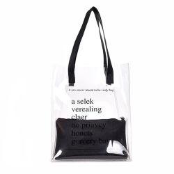 صنع وفقا لطلب الزّبون علامة تجاريّة مسيكة بلاستيك [بفك] كتف [شوبّينغتوت] شاطئ حقيبة