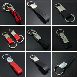 Personnaliser le logo personnalisé ou en cuir véritable cuir synthétique de clés de chaîne de clé