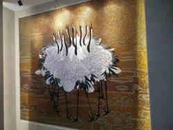 L'épaisseur 4 mm en mosaïque de verre pour la télévision de l'image décoration murale