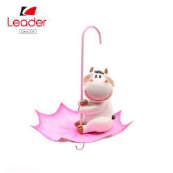 Polyresin Kuhvogelfutterhäuschen mit Regenschirm Figur für Haus und Garten Dekoration