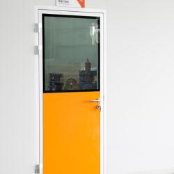 900mm*2100/1000mm*2100mm couleur RAL de l'aluminium portes simples à des fins alimentaires, pharmaceutiques, médicaux, l'hôpital, de laboratoire avec chambre propre charnière spécial de nettoyage