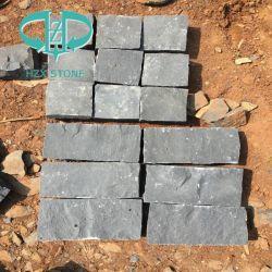 Natürlicher Riss-Schwarz-Basalt für Kopfstein/Cubestone/Bordstein/Graden Stein/im Freien Pflasterung-/Wand-Fliese/das Fertig werden/Bordstein-/Wand-Fliesen