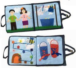 Детский ткань книги, присмотр за ребенком игрушки от 6 до 12 месяцев, детские игрушки в течение 1 лет, игрушка в области образования для мальчиков и девочек, коснитесь и считаем деятельность адресной книги