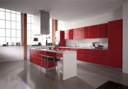 MFC moderne en bois Meubles de la poignée de porte armoires de cuisine modulaire