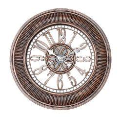 Orologio di parete arabo di Digitahi di grande stile indiano rotondo Bronze