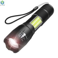 Torcia elettrica di Zoomable LED di stirata, mini torcia dell'alta PANNOCCHIA luminosa