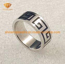316L Ring SSR1928 van het Roestvrij staal van het Patroon van de Laser van het Titanium van de Juwelen van het roestvrij staal de Doordringende