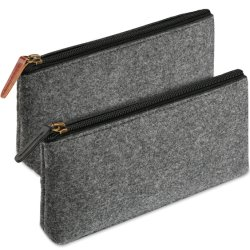 Nuovo alloggiamento sacchetto filtro promozionale su ordinazione della penna del sacchetto della matita del sacchetto della matita della cassa di matita del banco della cancelleria del feltro di morbidezza