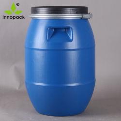 30L 50L 60L 120L 200L Open-Top fûts en plastique bleu du tambour avec couvercle de verrouillage
