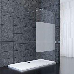 Sally 8mm templado baño ducha de vidrio esmerilado puerta izquierda o derecha de la instalación reversible