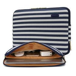 Полотно Water-Resistant 15-дюймовый ноутбук с диагональю 15,6 дюйма случае сумка для ноутбука для переноски Бретон полосой для сумок для ноутбуков Thinkpad MacBook