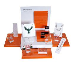 Personalizar el lujo de la Laca acrílica Mostrar joyas de moda de la pantalla de exhibición de rack
