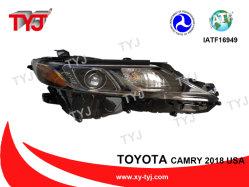 Usine Tyj Vente pièces de rechange Auto Body Kits feux avant la tête de la lumière avec lentille de projecteur Bi Xenon HID pour phares de la Camry 2018 USA se