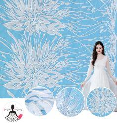豪華なデザイン流行の柔らかい刺繍の感じの花嫁のレースファブリック