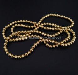 自然な金の赤鉄鉱の円形の宝石用原石は半貴石造りの宝石類に玉を付ける