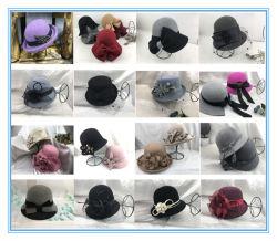 冬の2019方法女性のウールのフェルトのClocheの帽子のソフト帽の帽子