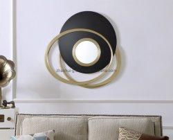 2019普及したフレームの骨董品の金葉の壁ミラーのホーム装飾