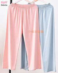 Solid Color pantalons de détente 100 % jersey de coton Vêtements de nuit de sommeil creux d'usure et de la maison de l'usure